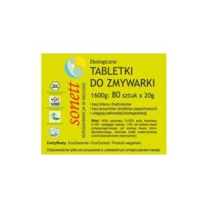 ekologiczne tabletki do zmywarki sonett zero waste sklep milvo produkty ekologiczne