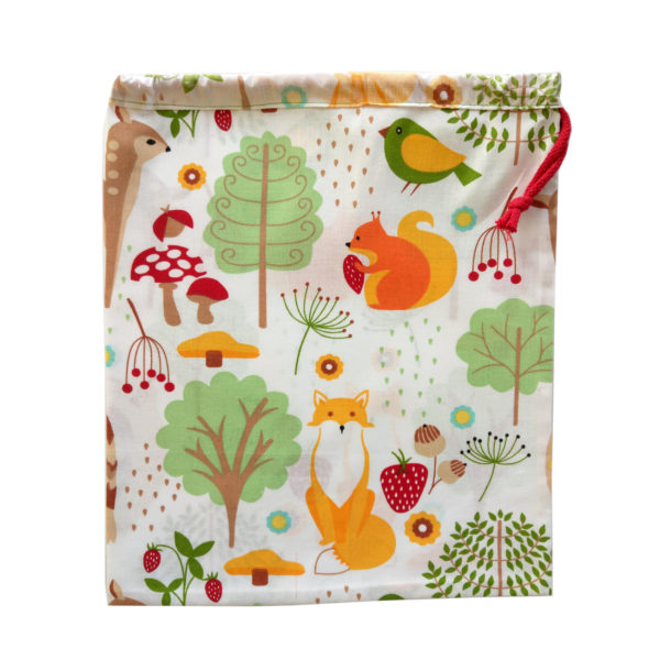 bawełniany woreczek na zakupy zero waste milvo sklep ekologiczy warzyworki siatka na warzywa