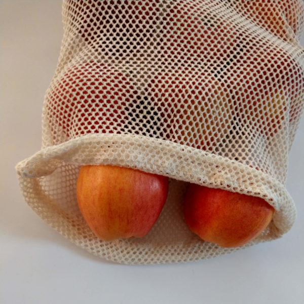 woreczki z siatki bawełnianej zero waste sklep milvo produkty ekologiczne woreczki na zakupy siatki