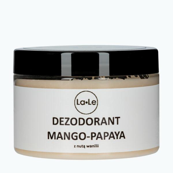 dezodorant naturalny na bazie sody mango papaya la-le la le zero waste w szkle