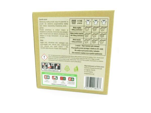 proszek do prania białego john econ ekologiczny zero waste w kartonie bez plastiku