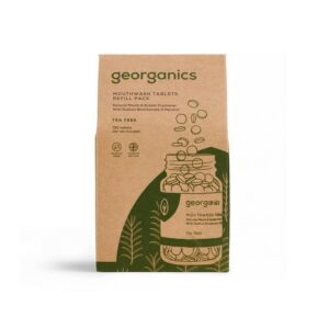 tabletki do płukania ust georganics drzewo herbaciane