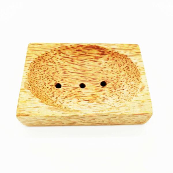 mydelniczka podstawka na mydło z drewna kokosowego kokosowa z kokosa