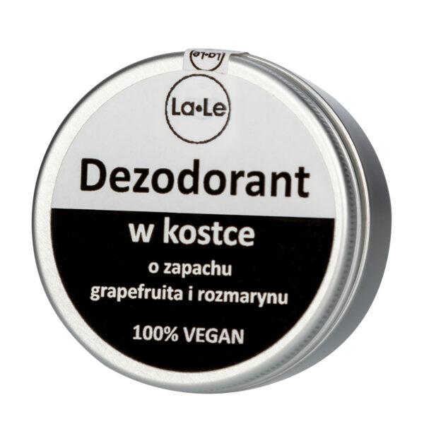 dezodorant w kostce la-le grapefruit i rozmaryn wegański zero waste w puszce