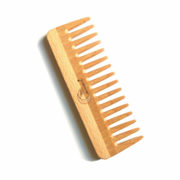 drewniany grzebień szeroki afro gorgol