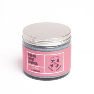 peeling słona lawenda z solą morską i himalajską cztery szpaki scrub naturalny kosmetyki zero waste w szkle