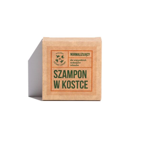 normalizujący szampon w kostce do włosów przetłuszczających się Rozmaryn i mandarynka cztery szpaki