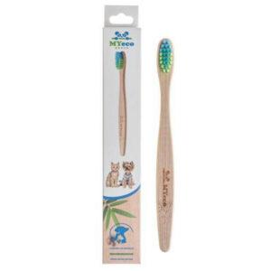 Bambusowa szczoteczka dla małego psa lub kota